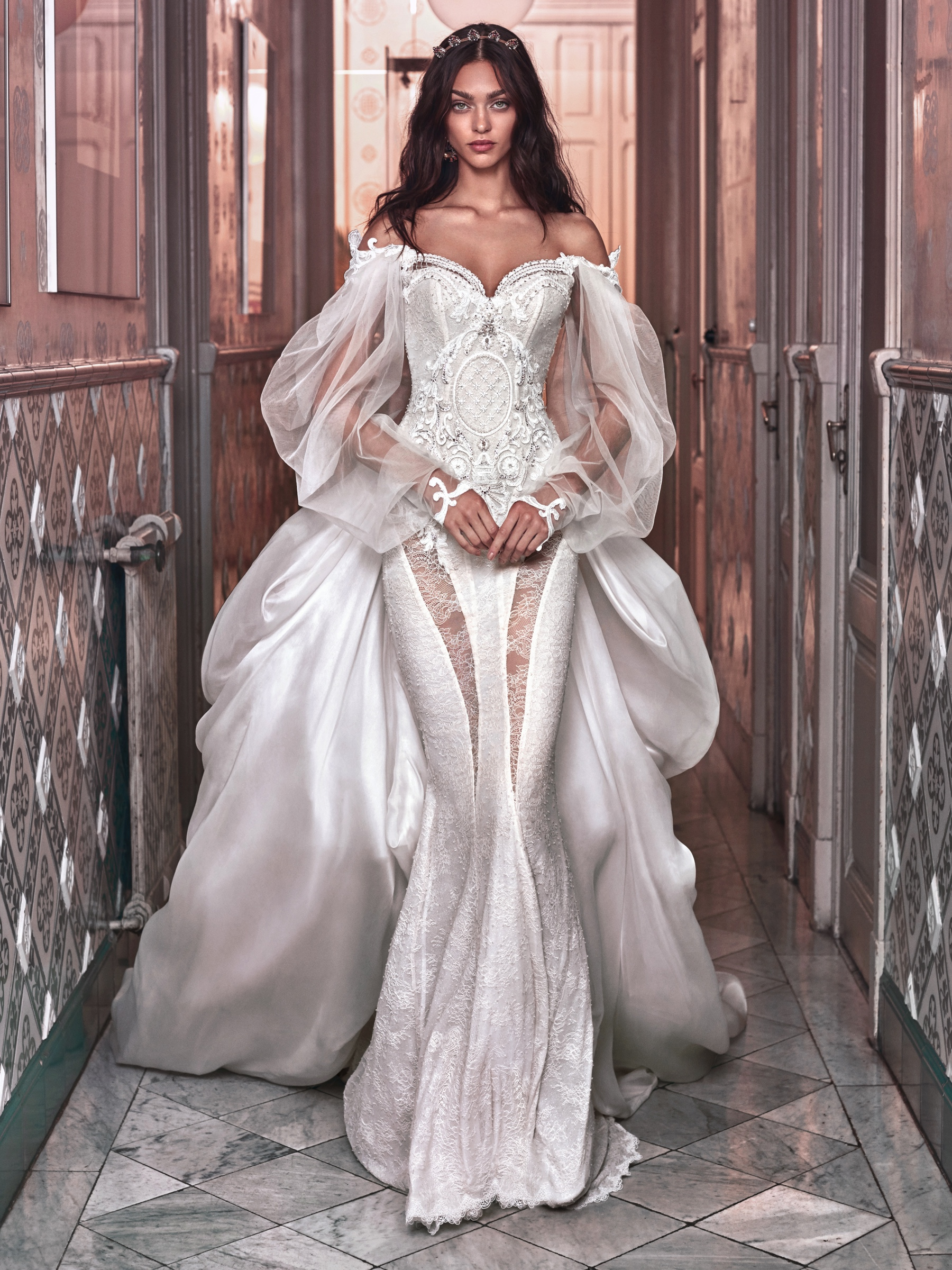 Sexy Victorian-inspired wedding dress