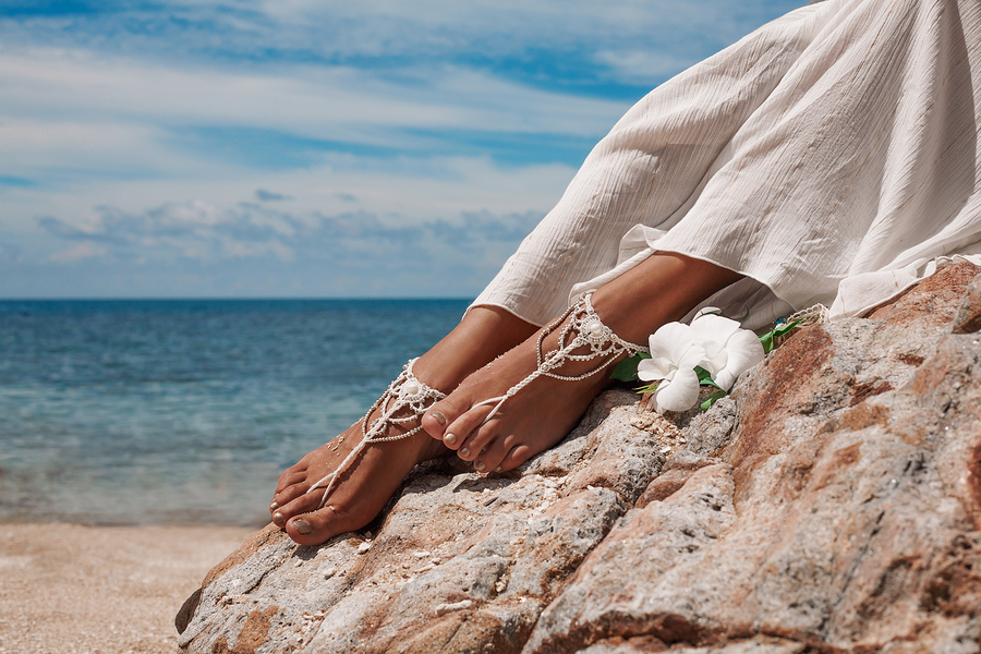 Anklets for bohemian wedding