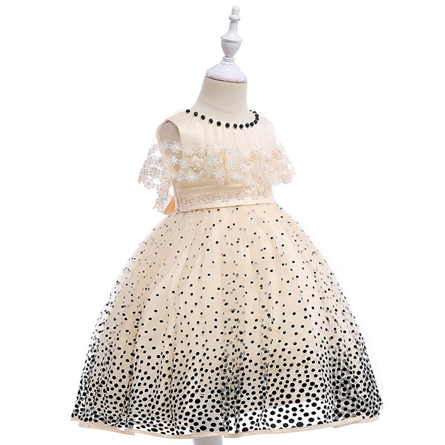 Flower Girl Dress with Dots