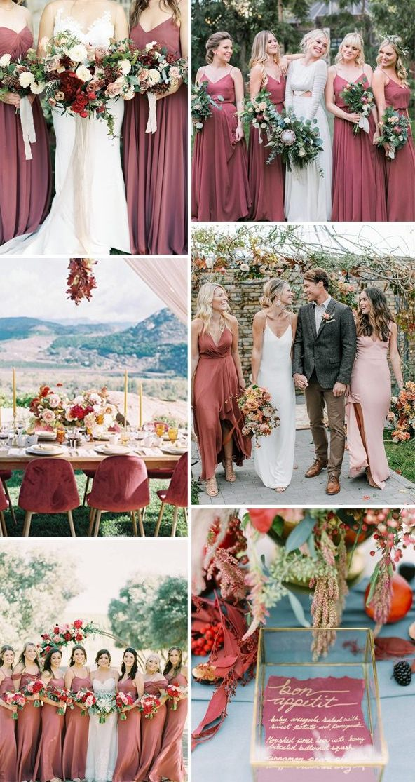 Cinnamon rose and dusty rose wedding