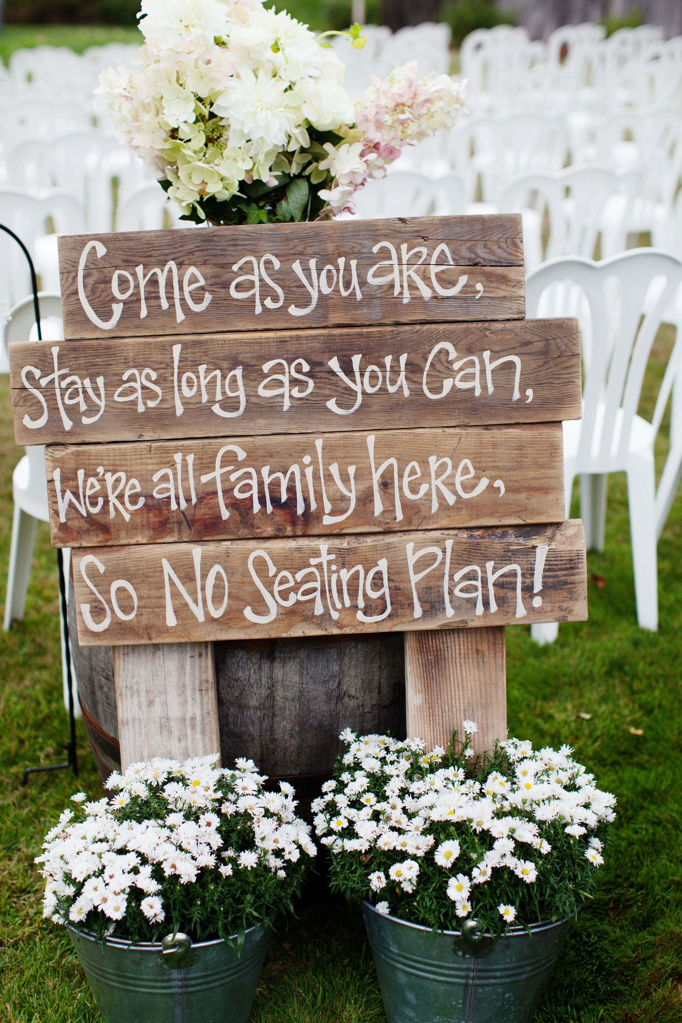 DIY rustic wedding signs