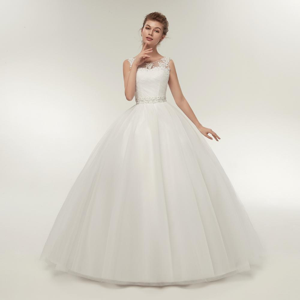 High neck princess wedding dress