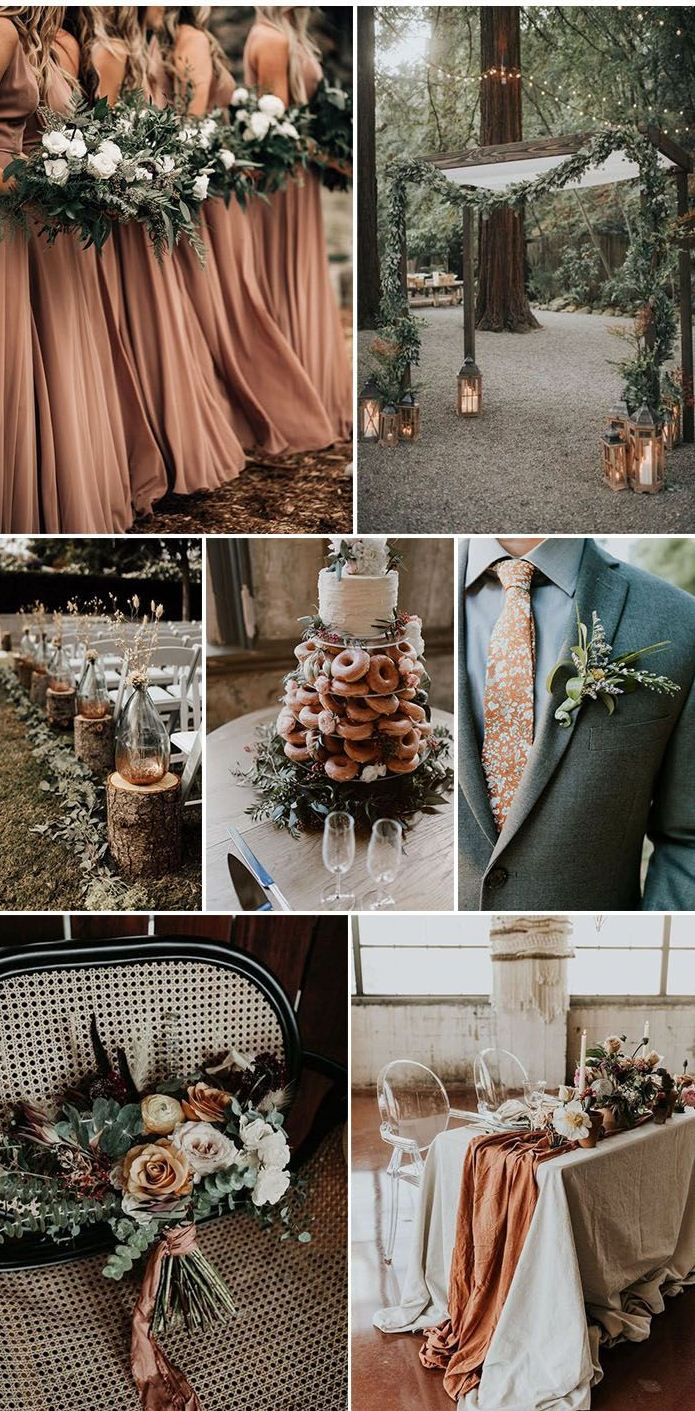 Sage green and terracotta wedding