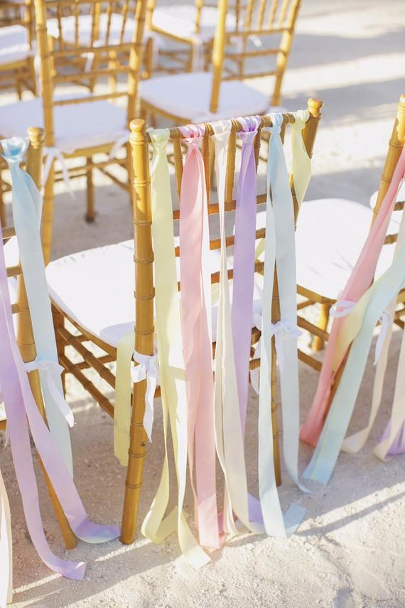 Silk ribbon chair decor