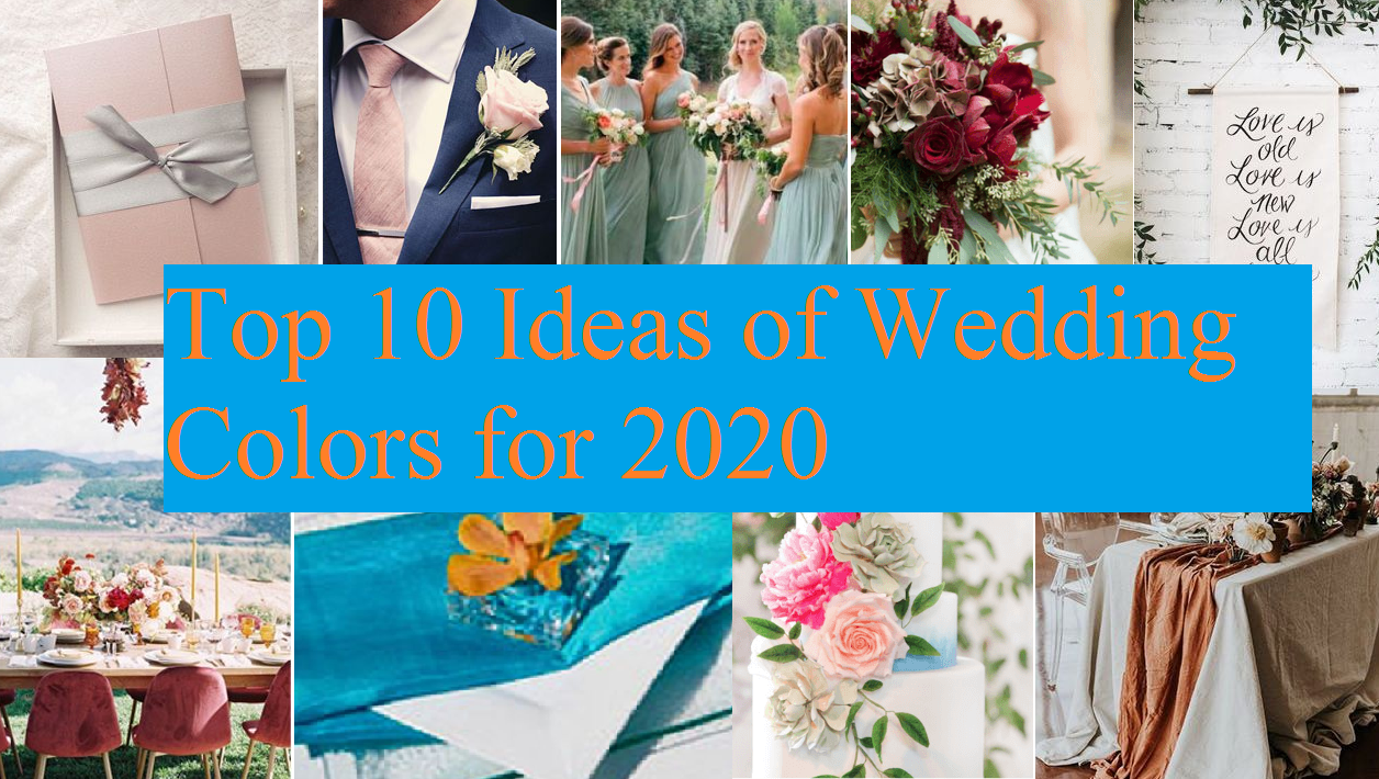 Trendy wedding colors 2020