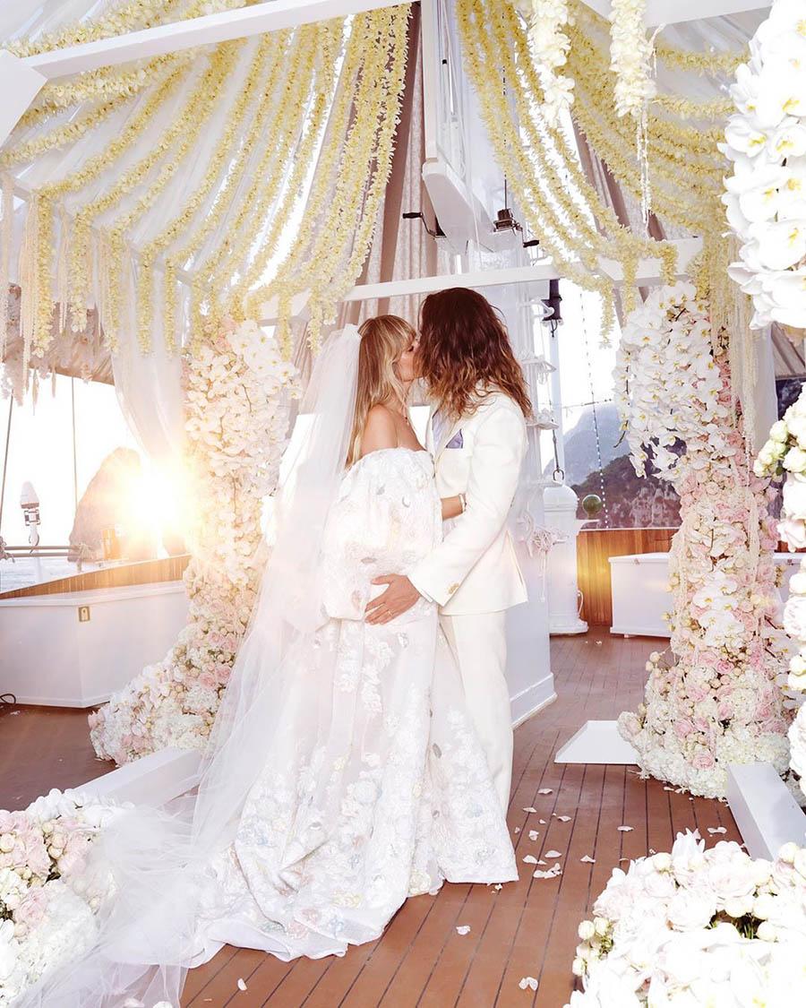Heidi Klum Hochzeitskleid Tom Kaulitz