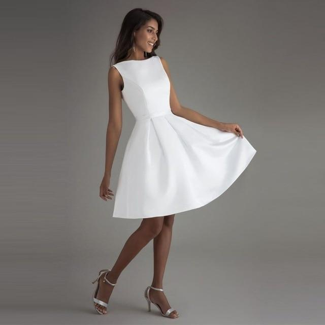 Minimalist short wedding dress