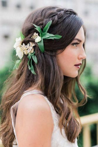 Flowers for hair half up half down hairstyle