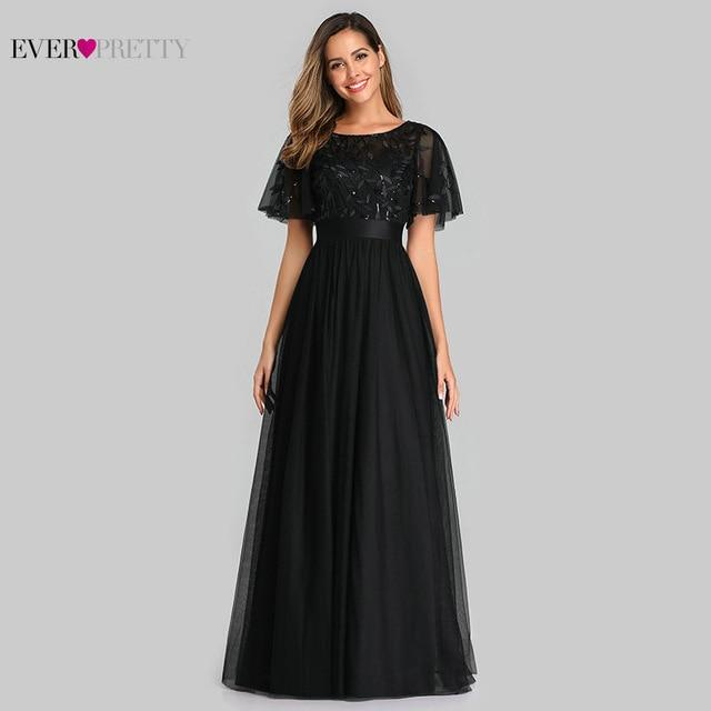 Black dress with flutter sleeves