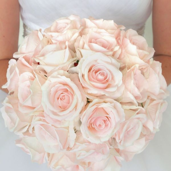 Blush rose wedding bouquet