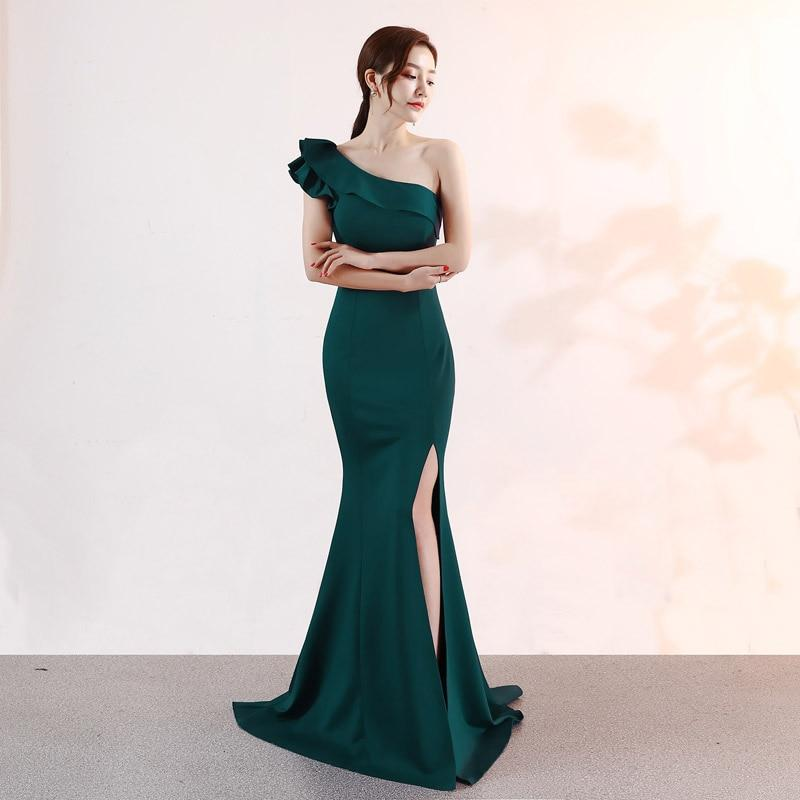 Dark green bridesmaid dress