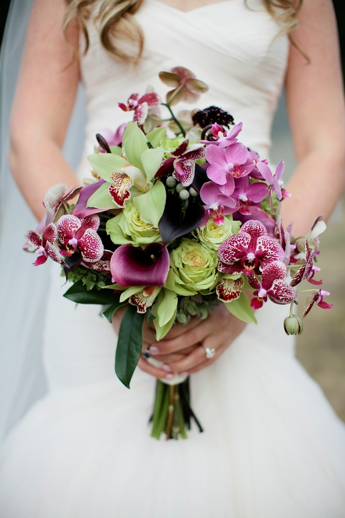 Orchid wedding bouquet
