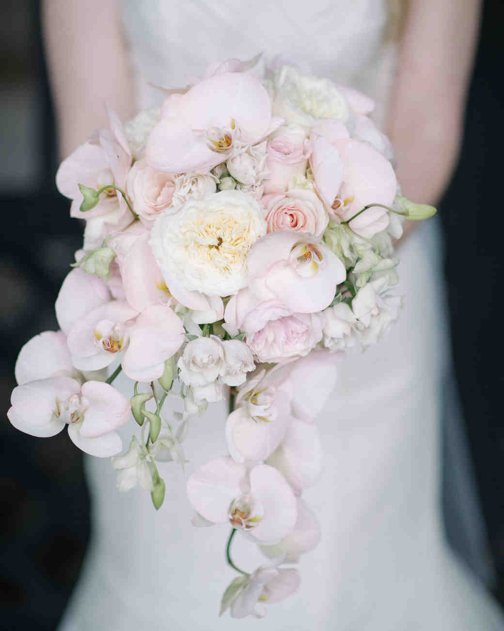 Pink orchids wedding bouquet