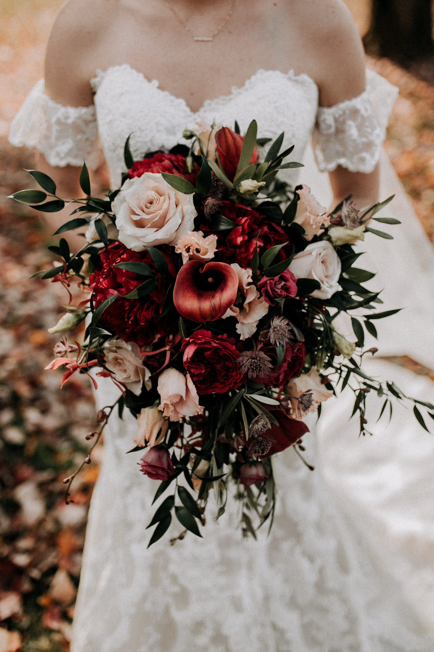Rustic fall bridal bouquet