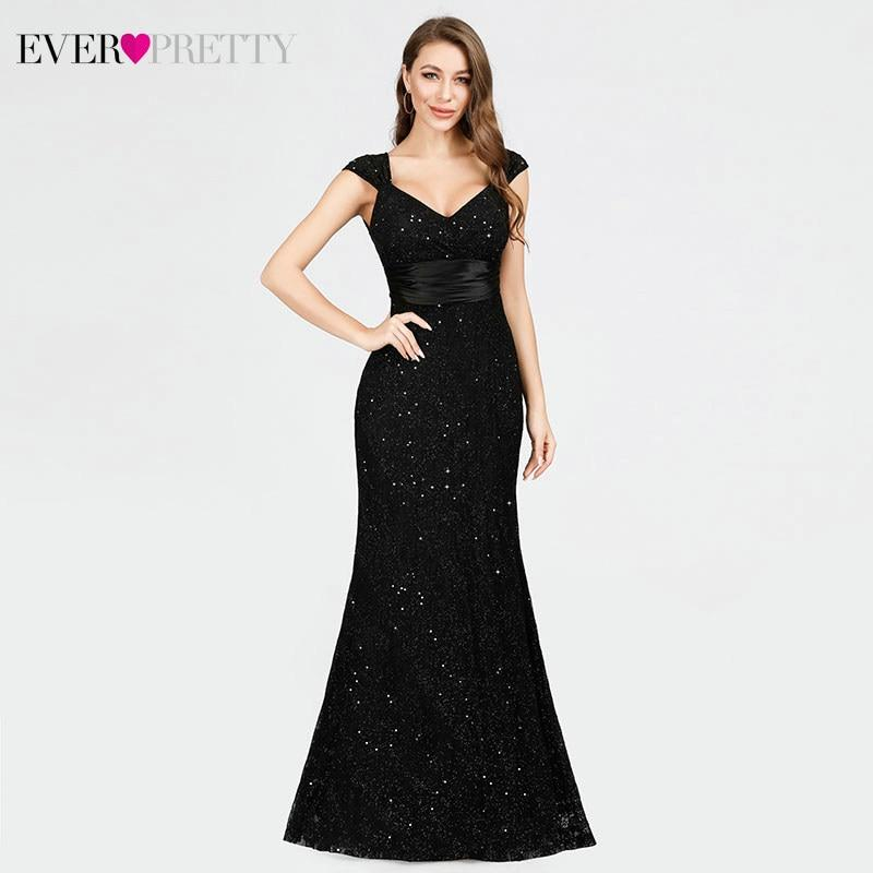 Sparkling black dress for bridesmaid