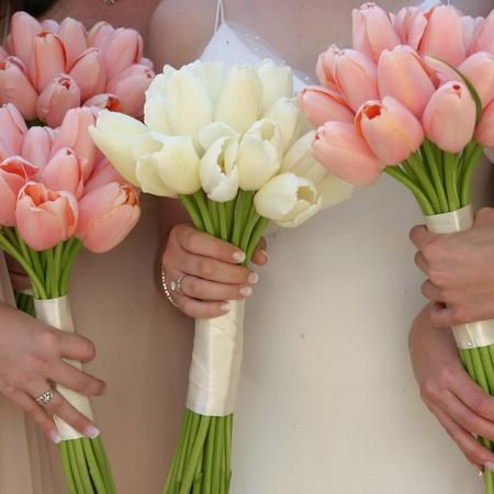 Tulip wedding bouquet
