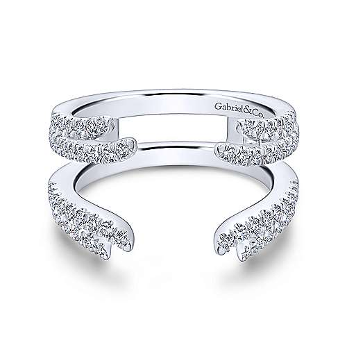 White gold diamond ring enhancer