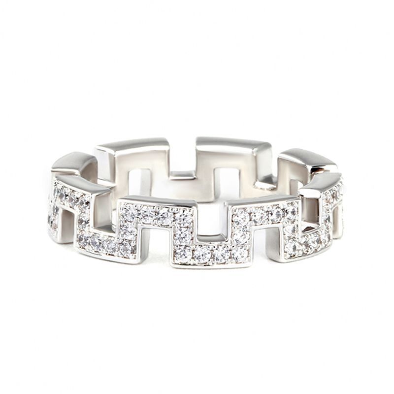 Great wall design wedding band