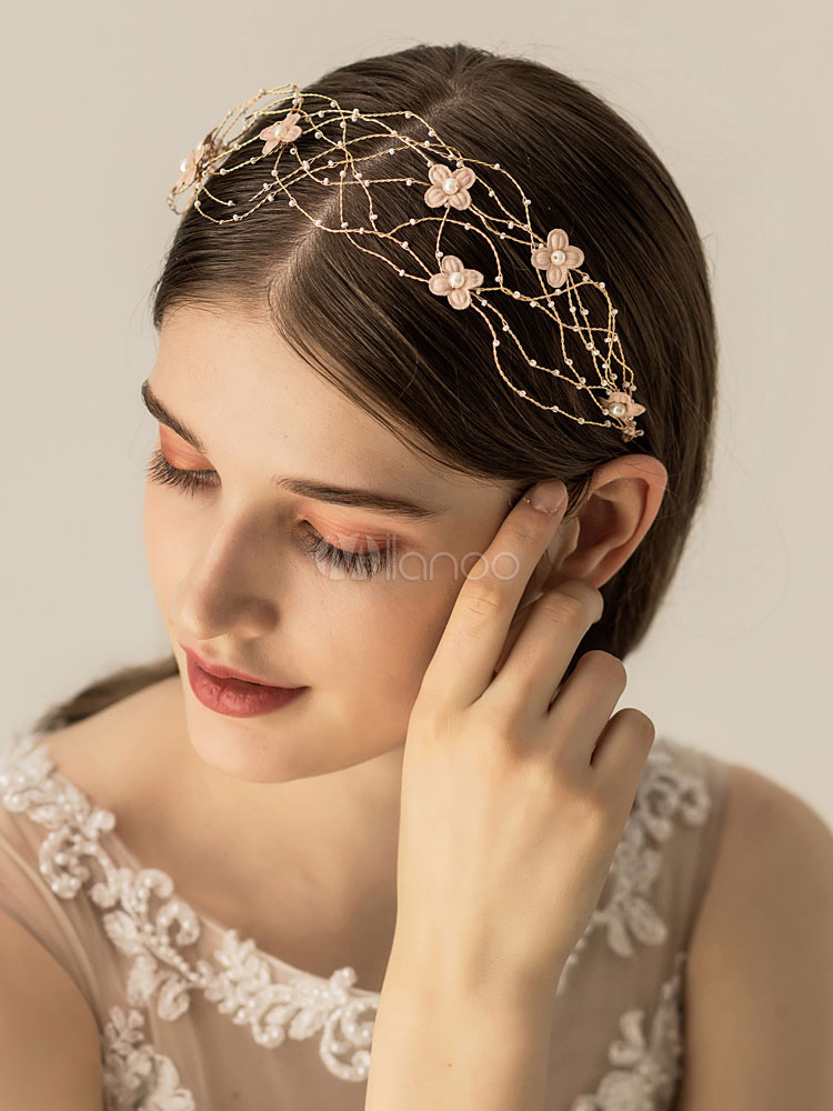 Interweaved chains wedding headband