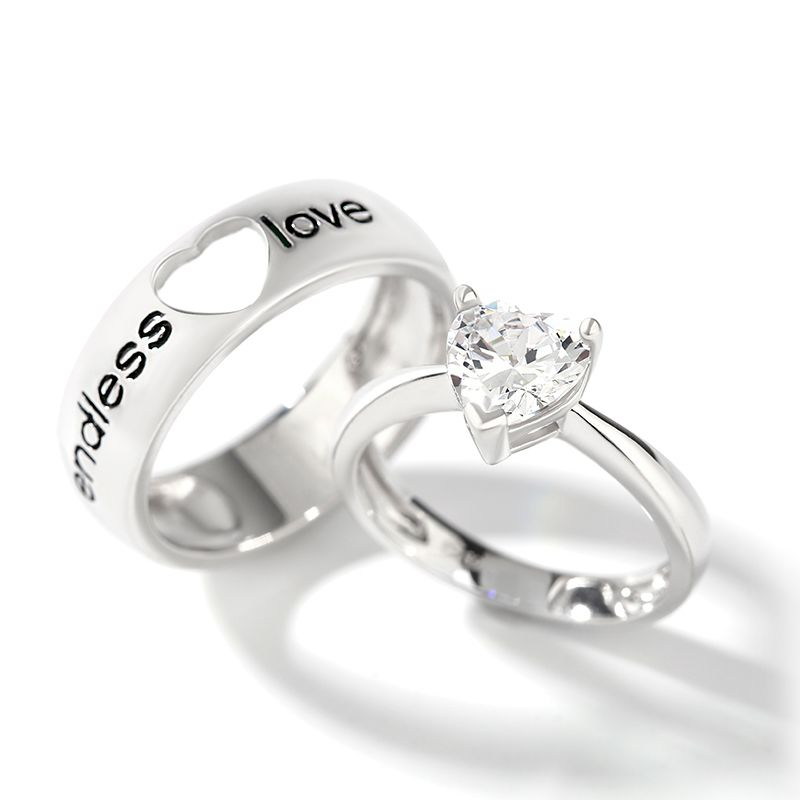 Romantic sterling silver band set