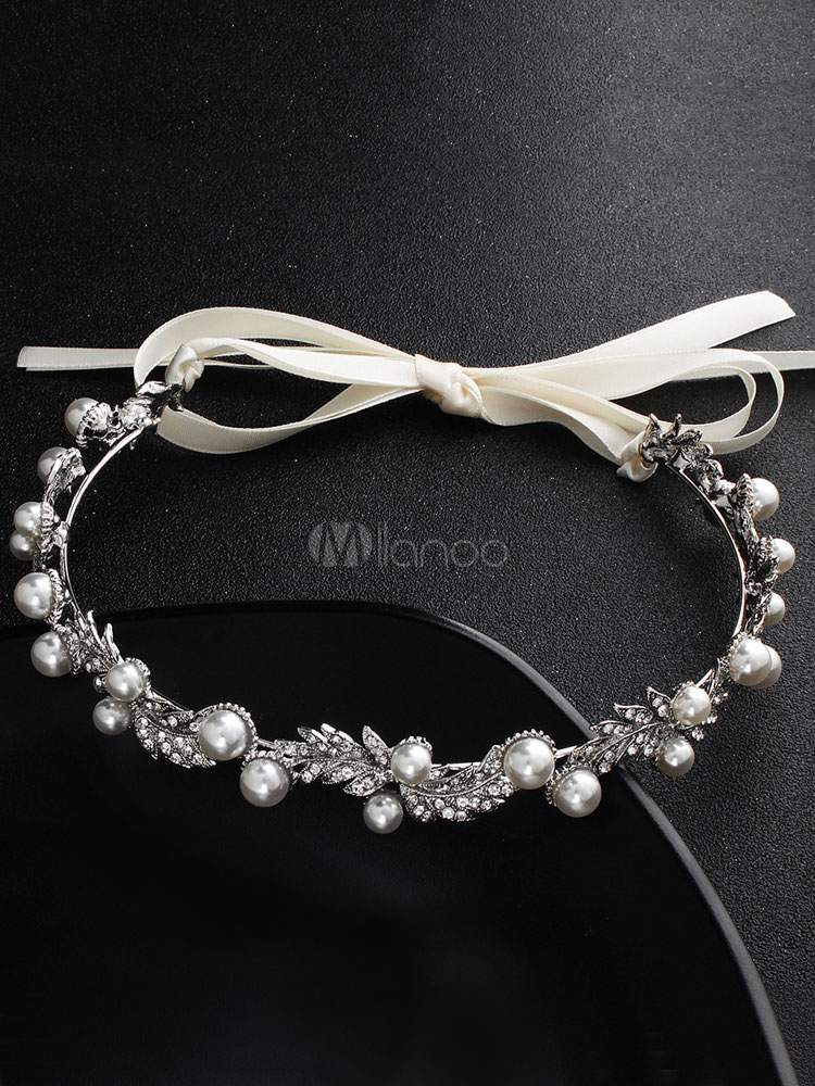 Silver color headband