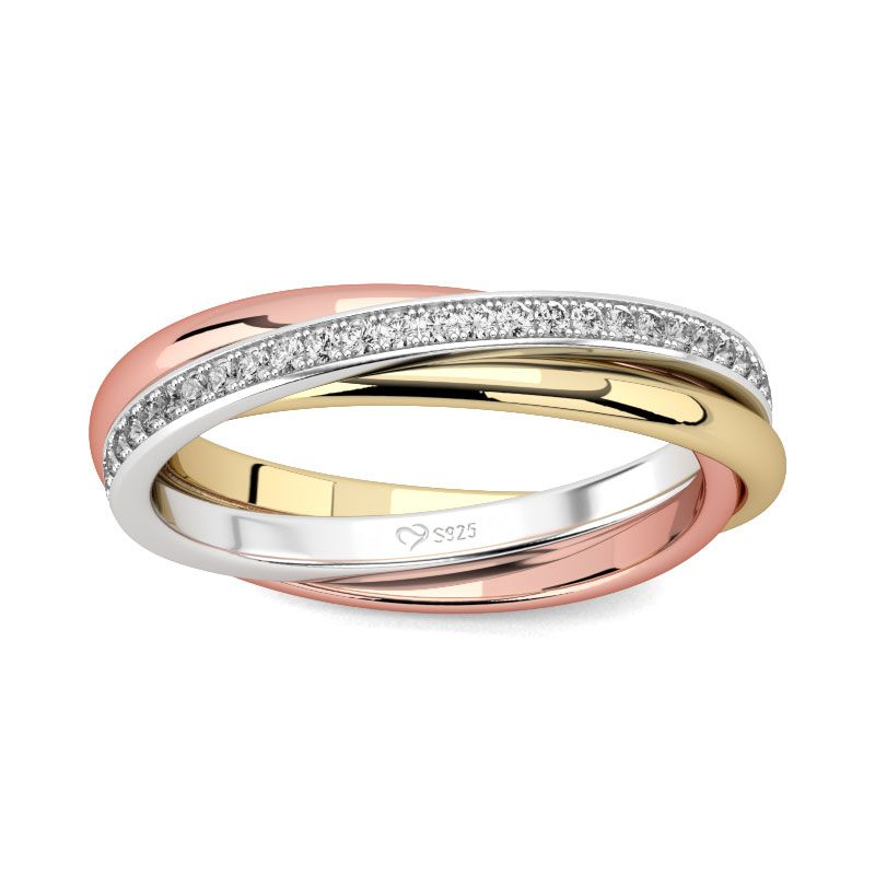 Three color wedding ring