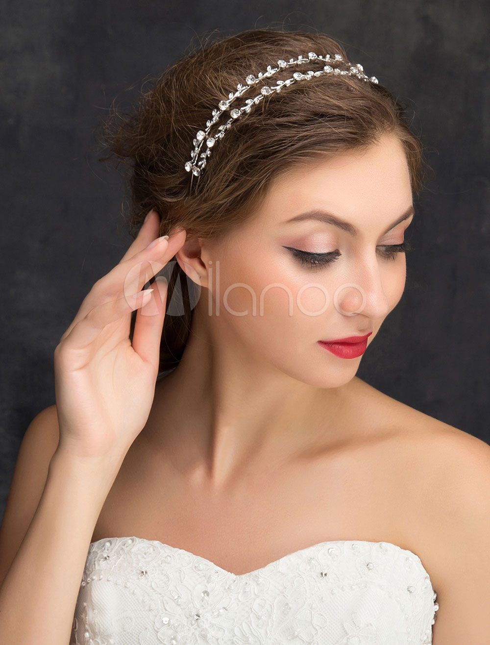Two row wedding headband