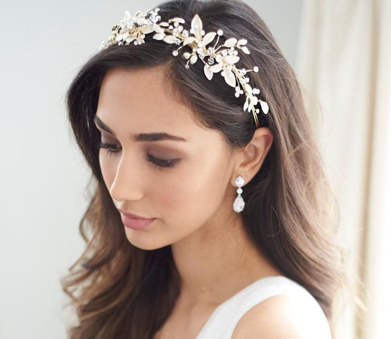 Wedding hair with headband