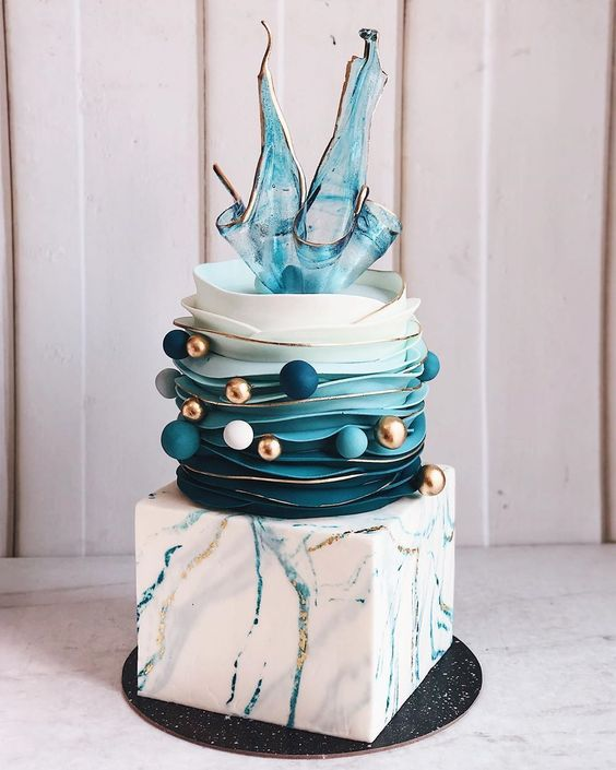Art inspired wedding cake