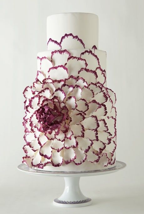Flower wedding cake